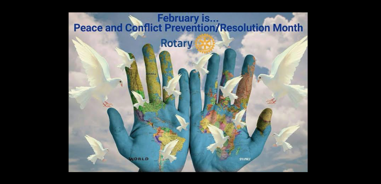 Image result for rotary peace and conflict resolution month